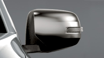 Chrome power door mirror with side turn lamp