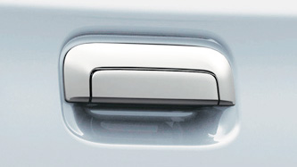 Chrome rear gate handle