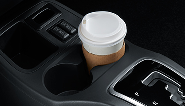 FLOOR CONSOLE WITH CUP HOLDER
